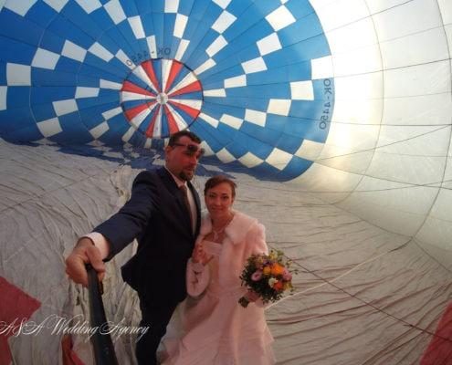 Свадьба на воздушном шаре